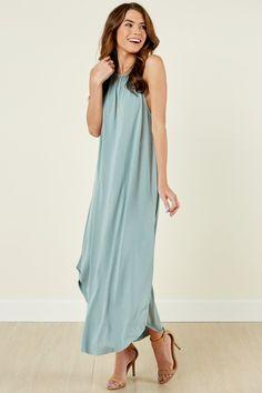 90908f9d9b1 Fringe Playfully Edgy Sage Green Maxi Dress