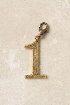 "Anthropologie Collector's Charm: Numbers. I want the ""8"""
