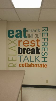 Lunch room ideas for Mrs.