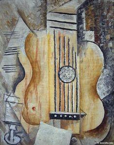 1912 Guitare j'aime Eva