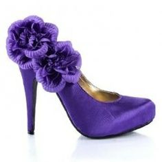 wonder how many of my bridesmaids can last in these heels? lol  Arlene Purple High Heels, Sexy High Heels, Womens High Heels, Cute Heels, Shoes Heels, Shoe Boots, Beautiful Heels, Dress And Heels, Red Hats