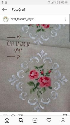 Embroidery Stitches, Hand Embroidery, Bargello, Cross Stitch Flowers, Crochet, Towels, Cross Stitch, Embroidery Ideas, Bolero Crochet