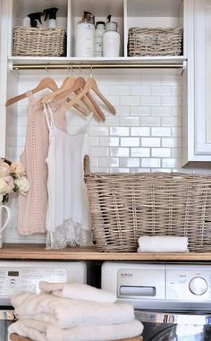 5 tips for refreshing your laundry room - French Country Cottage Laundry Room Shelves, Laundry Room Remodel, Laundry Room Organization, Laundry Room Design, Laundry Closet, Small Laundry, Laundry Drying, Laundry Decor, Laundry Area