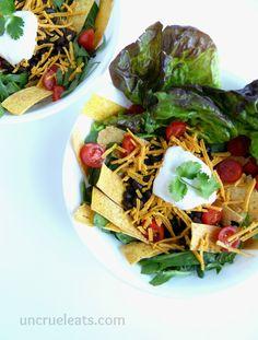 Uber Fast & Easy Taco Salads | UnCruel Eats
