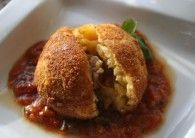 Arancini Fried in Sicilian Ogliorola Extra Virgin Olive Oil Recipe