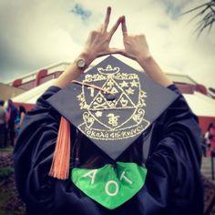 Graduation cap. Kappa Delta, University of South Florida, AOT