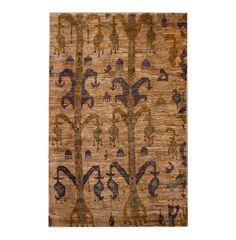 Ikat Hemp Hand-Knotted Rug - June, Antique Rugs
