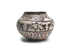 Zuni Polychrome Pictorial Jar | lot | Sotheby's