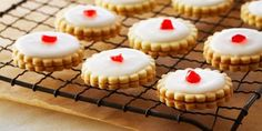 Empire Cookies: really good.. And sweet :). Is a good cookie base too if you just want to cut out cookies. There's no baking powder or soda so they hold their form pretty much identically to the cookie cutter which is always wonderful too!
