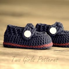Crochet patterns  Baby Boy Boot  The Sailor  by TwoGirlsPatterns, $5.50