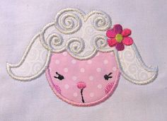 Farm Friends For Girls Sheep Face 01 Machine by KCDezigns on Etsy