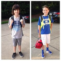 Chandler Riggs and his Brother Grayson Riggs