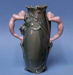 New Art Nouveau-styled 8½-inch vase marked Weller. Sold for $20 from a reproduction wholesaler