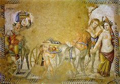 Procession of Dionysos. The house of Aion. Middle of the 4th century A.D. Cyprus.Paphos, Archaeological Park.