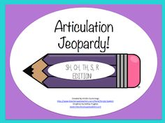 Articulation Jeopardy!  - Pinned by @PediaStaff – Please Visit ht.ly/63sNtfor all our pediatric therapy pins