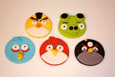 GAME BIRDS - Fondant Cupcake, and Cookie Toppers - 1 Dozen