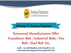 Carriage Bolt Being the highly appreciated Carriage Bolt Manufacturers, Swarna Fasteners is the acing the national market areas for serving quality and excellence to all the industries. We are manufacturing a multitude product range that is safe for the equipment as well as the infrastructure besides providing high strength to both. We are one of the most flourished manufacturers for having the application based variety of high grade industrial fasteners with a seal of quality and trust. Stud Bolt, Carriage Bolt, Fasteners, Industrial, Marketing, Seal, Trust, Strength, Range