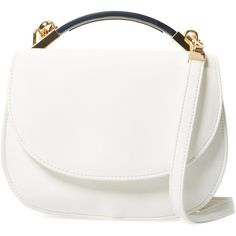 Cynthia Rowley Women's Gemma Small Crossbody - Cream/Tan (190 BRL) ❤ liked on Polyvore featuring bags, handbags, shoulder bags, purses, purse crossbody, hand bags, white shoulder bag, handbag purse and shoulder strap bags