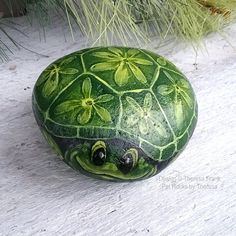 Painted rock turtle, turtle garden decor, turtle collectables, gift for turtle lover, turtle rock, gift for gardener, painted turtle rock This little turtle comes to life on an extra special Lake Michigan beach stone, hand picked by me! This guy is painted with several layers of