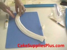 Easy Fondant Drapes or Swags