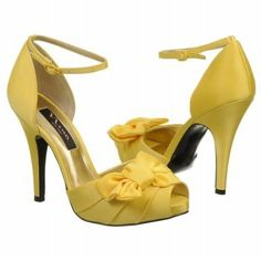 Yellow Heels for Bridesmaids | Yellow bow bridal wedding pump heels shoe – party, prom, grad high ...