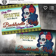 Sugar skull invite, perfect for bridal showers, weddings, Halloween and Dia de los Muertos. #theknotweddings #theknot #sugarskullwedding #sugarskull #oddlotpaperie #custominvites #halloween #wedding #dayofthedead #diadelosmuertos