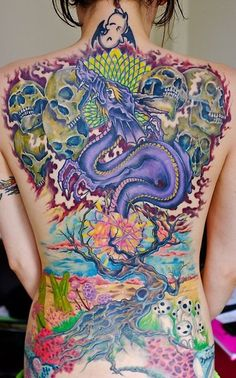 _ back piece tattoo _