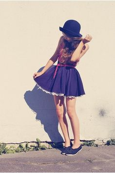 Short dresses and tennis' .. ruffles and hats <3