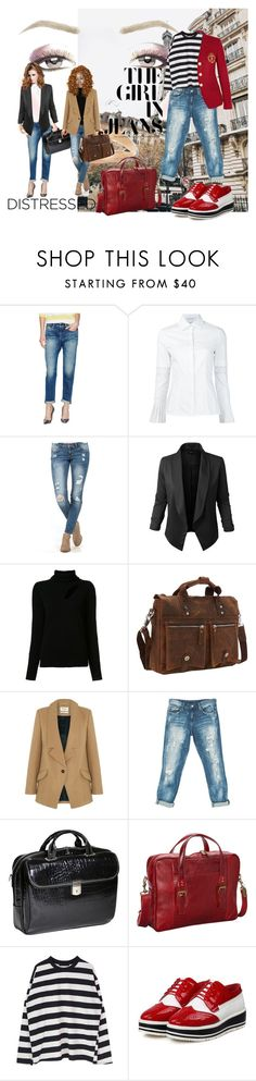 """""""Untitled #4092"""" by anyower ❤ liked on Polyvore featuring Levi's Made & Crafted, Jupe de Abby, A.L.C., Vagabond Traveler, Parka London, Sans Souci, Siamod, ClaireChase and Yves Saint Laurent"""
