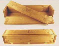 Wood soap mold, hinged, with lid, 6 lb capacity.