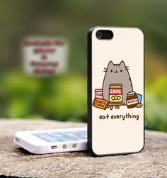 Pusheen The Cat Eat Every Thing  iPhone 4 4S by CreativeArea, $9.99