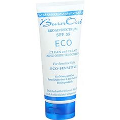 Burn Out Sunscreen - Eco Sensitive - Spf 35 - 3 Oz Sunscreen For Sensitive Skin, Natural Sunscreen, Sunscreen Spf, Star Wars, Antioxidant Vitamins, Organic Aloe Vera, Active Ingredient, Face And Body, Whitening