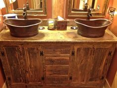 I love the rustic look I would love this in my bathroom!