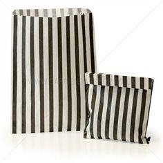 Papiertüten schwarz-weiß gestreift