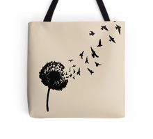 Dandelion Flying Seeds Tote Bag