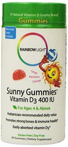 Rainbow Light Vitamin D3 Sunny Gummies 400 Iu 60Count Bottle * You can get additional details at the image link. (Note:Amazon affiliate link)
