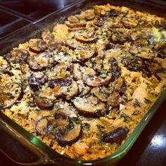 Lighter chicken marsala casserole looks delicious- 230 calories and only 5g fat for a good serving size, with 16g protein. Hope it's as good as it looks!