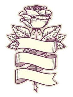 Traditional Rose Tattoos - tattoo designs ideas männer männer ideen old school quotes sketches Sketch Tattoo Design, Sketch Design, Tattoo Sketches, Tattoo Drawings, Tattoo Designs, Tattoo Ideas, Band Tattoos, Ribbon Tattoos, Body Art Tattoos