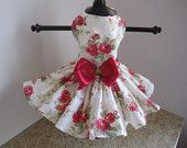 Dog Dres Vintage Roses   By Nina's Couture Closet