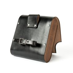 The Pocket Pannier Leather and Wood Bicycle by WalnutStudiolo