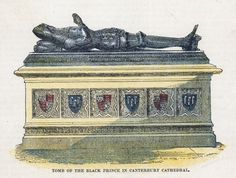 Tomb of the Black Prince in Canterbury Cathedral Posters & Prints by English School