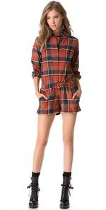 8068bac01f79 Harvey Faircloth Flannel Romper I d add tights for those cool autumn days.