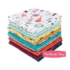 Not So Wild West Fat Quarter Bundle<br />Irene Chan for Marcus Brothers Fabrics