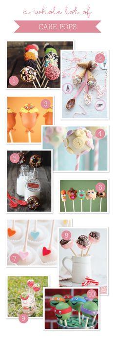 10 Cute-as-a-button Cake Pops ~ Tinyme
