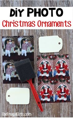 Easy Christmas Photo Ornaments! ~ from TheFrugalGirls.com ~ make a super cute DIY ornament for your tree with this simple craft using your favorite photos! These make great gifts, too! #thefrugalgirls
