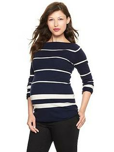 Striped boatneck swe