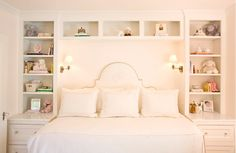 Exactly what I want. Turn a full size bed sideways into a day bed with built ins around it. LOVE!