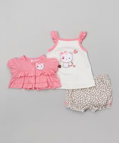 This Pink Leopard Kitty Tank Set is perfect! #zulilyfinds