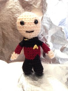 Star Trek Crochet  Mini Captain Jean Luc Picard TNG by GeekeryTea