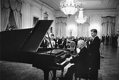President Harry Truman playing for President and Mrs. Kennedy at a White House Receiption.  I love Harry Truman.